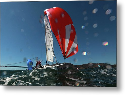 San Francisco Metal Print featuring the photograph Rolex Big Boat Series by Ezra Shaw