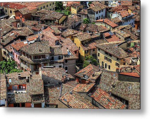 Tranquility Metal Print featuring the photograph Roofs by Mento