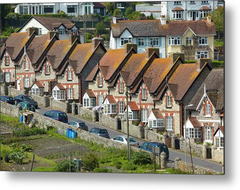Row House Metal Print featuring the photograph Row Of Houses by Allan Baxter