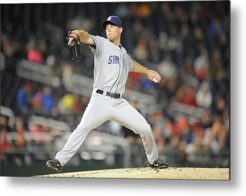 Baseball Pitcher Metal Print featuring the photograph San Diego Padres V. Washington Nationals by Mitchell Layton