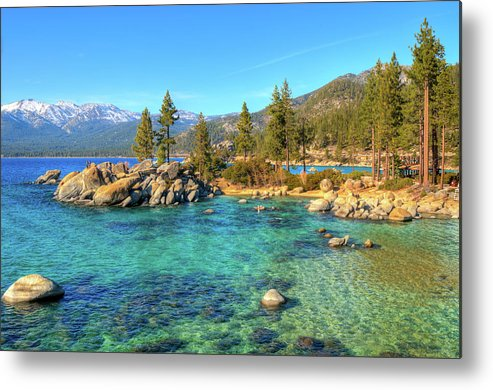 Tranquility Metal Print featuring the photograph Sand Harbor State Park, Lake Tahoe by Www.35mmnegative.com