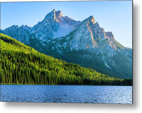 Scenics Metal Print featuring the photograph Sawtooth Mountains And Stanley Lake by Dszc