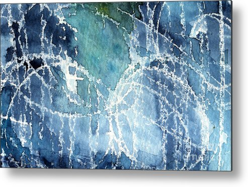 Abstract Painting Metal Print featuring the painting Sea Spray by Linda Woods