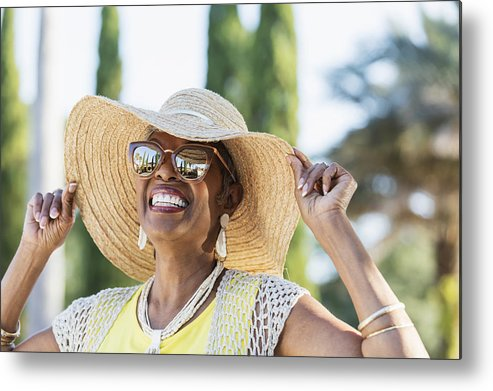People Metal Print featuring the photograph Senior African-American woman wearing sunglasses by Kali9