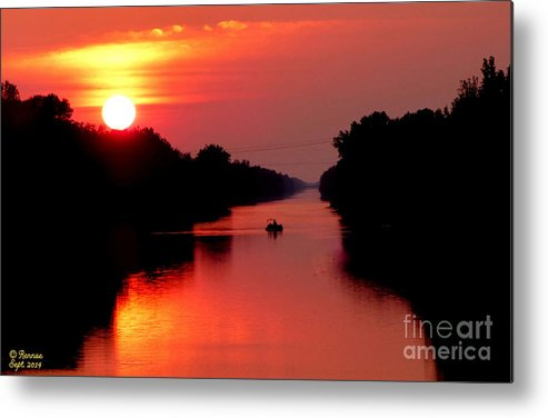 Landscape Metal Print featuring the photograph September Sunset by Rennae Christman