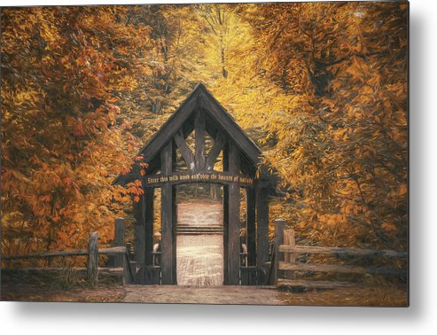 Forest Metal Print featuring the photograph Seven Bridges Trail Head by Scott Norris