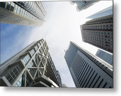 Downtown District Metal Print featuring the photograph Shanghai Stock Exchange,china - East by Zyxeos30