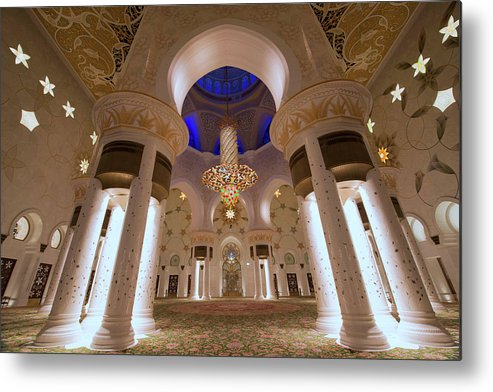 Arch Metal Print featuring the photograph Sheikh Zayed Grand Mosque by Dany Eid Photography