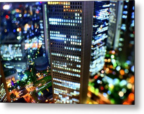 Built Structure Metal Print featuring the photograph Shinjuku by Takashi Kitajima