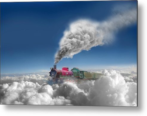 Clouds Metal Print featuring the photograph Sky Express by Igor Zenin