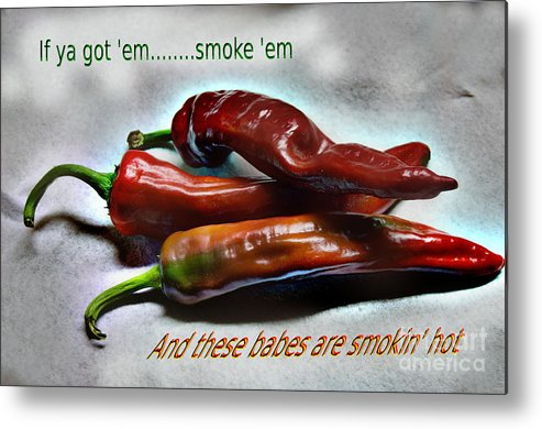 Hot Metal Print featuring the photograph Smokin' by The Stone Age
