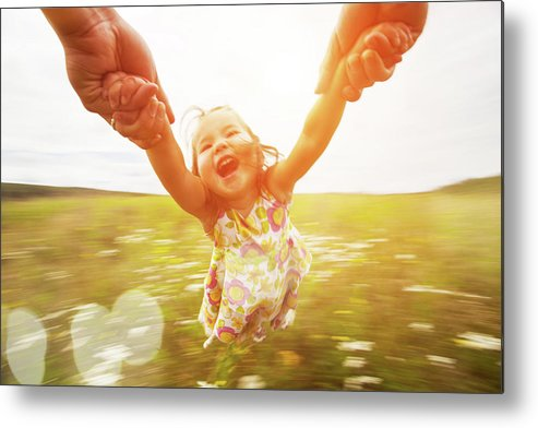 Human Arm Metal Print featuring the photograph Spinning Girl by Arand