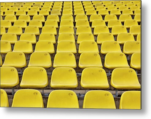 Event Metal Print featuring the photograph Stadium Seats by 35007