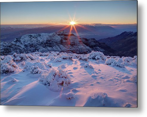 Sunrise Over Death Valley Metal Print By Eric Lo
