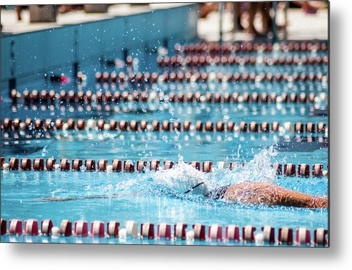 Udine Metal Print featuring the photograph Swimmer In A Sport Pool by Bosca78