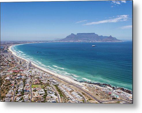 Scenics Metal Print featuring the photograph Table Mountain Lies In The Distance Of by Peter Chadwick
