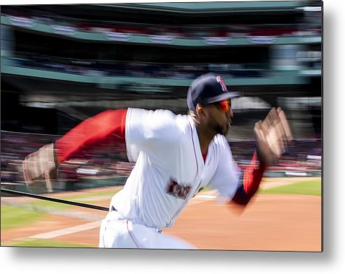 Three Quarter Length Metal Print featuring the photograph Tampa Bay Rays v Boston Red Sox by Billie Weiss/Boston Red Sox