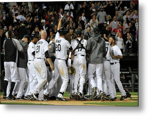 Ninth Inning Metal Print featuring the photograph Tampa Bay Rays V Chicago White Sox by David Banks