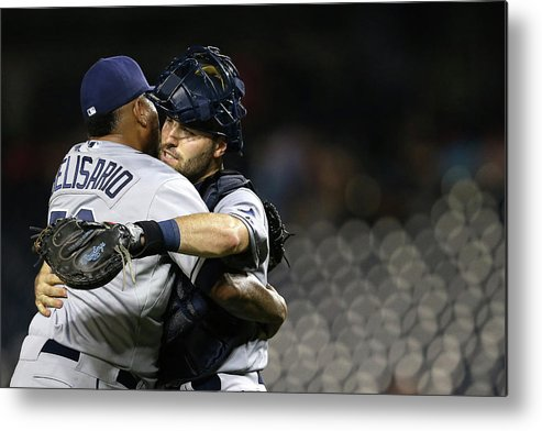 Baseball Catcher Metal Print featuring the photograph Tampa Bay Rays V Washington Nationals by Patrick Smith