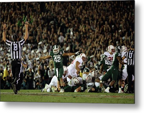 Michigan State University Metal Print featuring the photograph The 100th Rose Bowl Game - Stanford V by Harry How