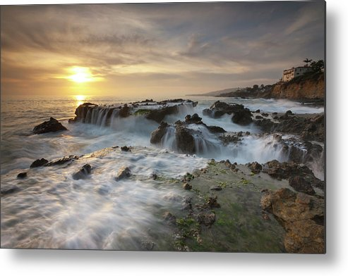 Scenics Metal Print featuring the photograph The Cauldron - Victoria Beach by Images By Steve Skinner Photography