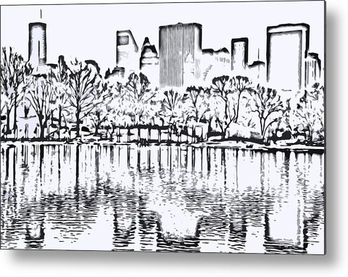 City Metal Print featuring the photograph The Lake by Andre Aleksis
