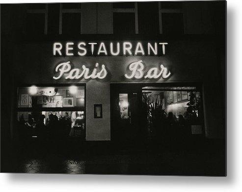 Paris Bar Metal Print featuring the photograph The Paris Bar by Dominique Nabokov