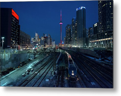 Train Metal Print featuring the photograph The Railway Lands Toronto by This Image