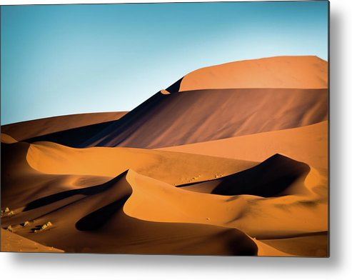 Sand Dune Metal Print featuring the photograph The Red Sand Dunes In Namibia by José Gieskes Fotografie