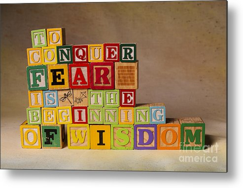 To Conquer Fear Is The Beginning Of Wisdom Metal Print featuring the photograph To Conquer Fear Is The Beginning Of Wisdom by Art Whitton