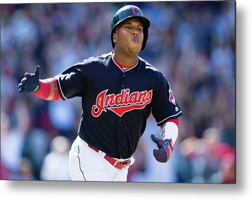 American League Baseball Metal Print featuring the photograph Toronto Blue Jays V Cleveland Indians by Jason Miller