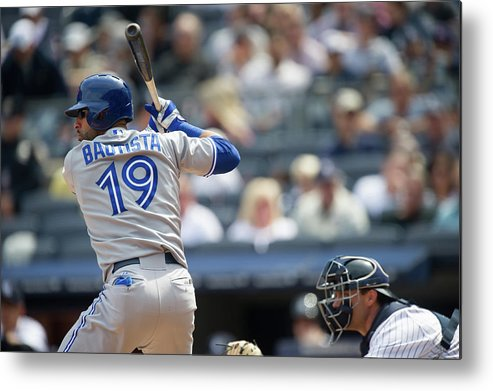 American League Baseball Metal Print featuring the photograph Toronto Blue Jays V New York Yankees by Rob Tringali