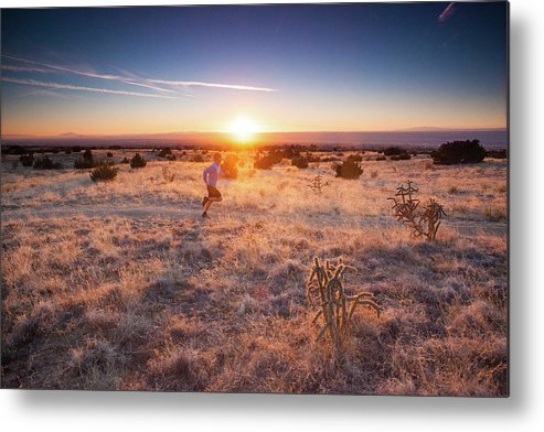 Scenics Metal Print featuring the photograph Trail Running by Amygdala imagery