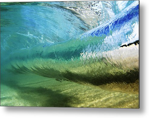 Amaze Metal Print featuring the photograph Underwater Wave Curl by Vince Cavataio - Printscapes