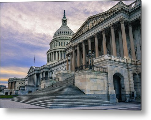 Tranquility Metal Print featuring the photograph Us Capitol Building And Senate Chamber by Mbell