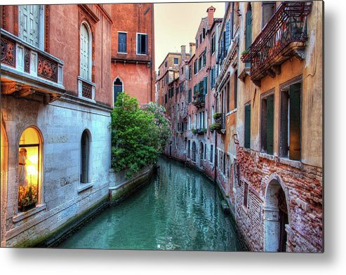 Tranquility Metal Print featuring the photograph Venice Canals by Emad Aljumah