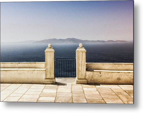 Tranquility Metal Print featuring the photograph View From Tinos by Photography Of Beauty And Mystery