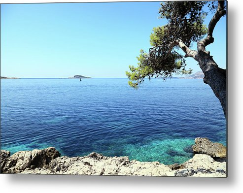 Water's Edge Metal Print featuring the photograph View Of Dubrovnik From Cavtat Peninsula by Vuk8691