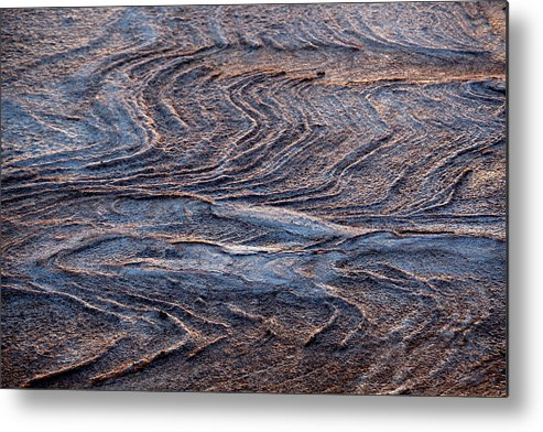 Curve Metal Print featuring the photograph View Of Landscape From Above, Port by Tobias Titz