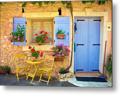 Outdoors Metal Print featuring the photograph Village House In The Tiny Luberon by Barbara Van Zanten