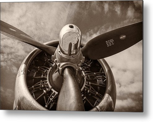 3scape Metal Print featuring the photograph Vintage B-17 by Adam Romanowicz
