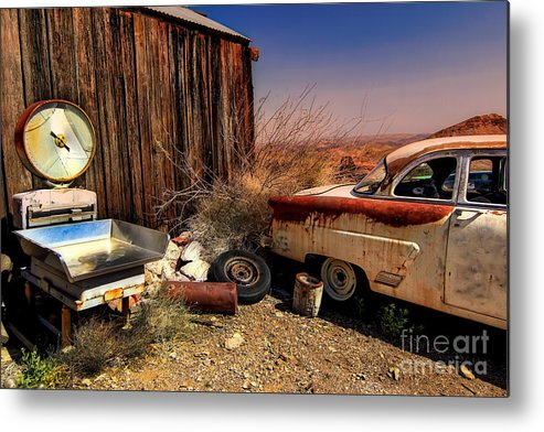 Car Metal Print featuring the photograph Waiting on a Woman by Brenda Giasson