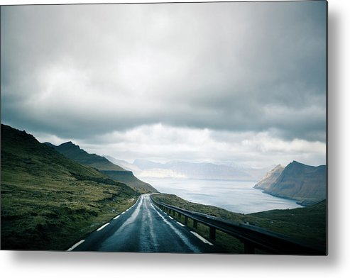 Tranquility Metal Print featuring the photograph Wet Road by Annelogue Photography