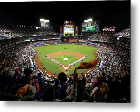 Playoffs Metal Print featuring the photograph Wild Card Game - San Francisco Giants V by Michael Reaves