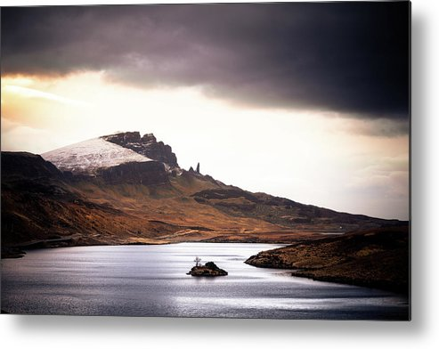 Water's Edge Metal Print featuring the photograph Wild Nature Landscape In Scotland, Isle by Zodebala