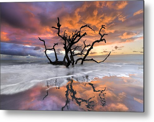 Clouds Metal Print featuring the photograph Wildfire by Debra and Dave Vanderlaan