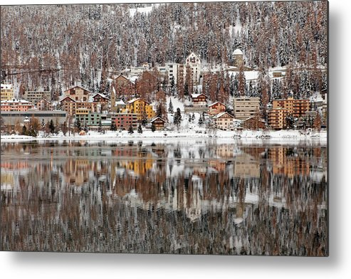 Holiday Metal Print featuring the photograph Winter View Of Saint Moritz by Massimo Pizzotti