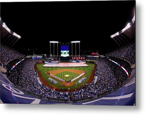 People Metal Print featuring the photograph World Series - San Francisco Giants V by Alex Trautwig