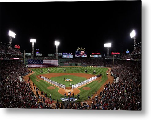 American League Baseball Metal Print featuring the photograph World Series - St Louis Cardinals V by Alex Trautwig