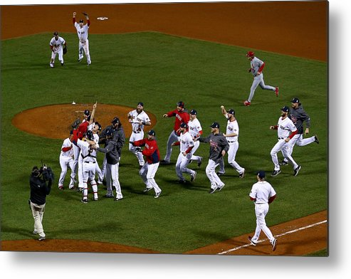 Playoffs Metal Print featuring the photograph World Series - St Louis Cardinals V by Jamie Squire